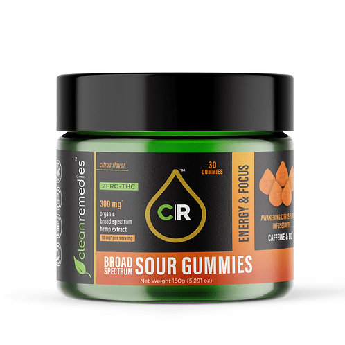 10mg Energy & Focus CBD gummies-Clean Remedies