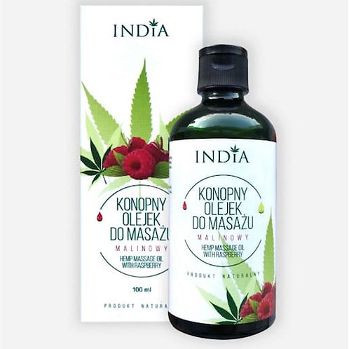 INDIA Konopny olejek do masażu – malinowy 100 ml