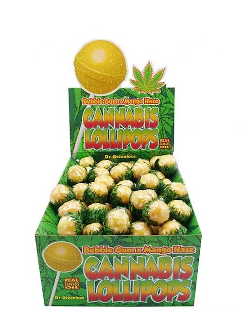 DR GREEN LOVE Mango Haze Lizak z olejem konopnym z gumą do żucia