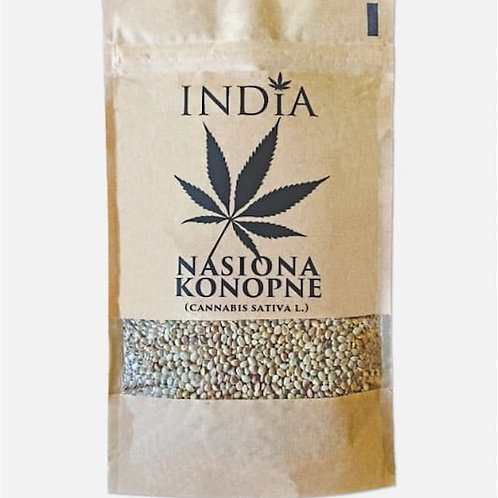 INDIA Lekko prażone nasiona konopi 250 g