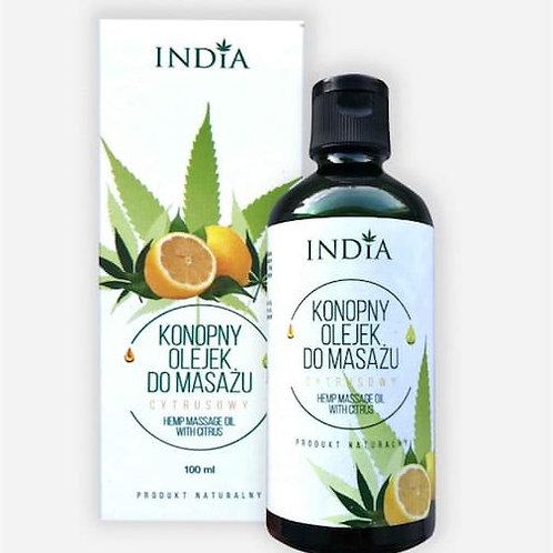 INDIA Konopny olejek do masażu – cytrusowy 100 ml