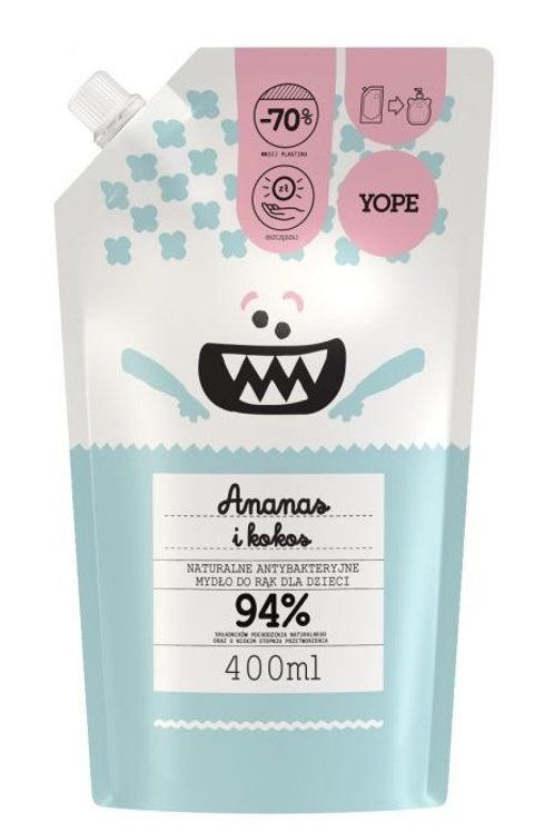 YOPE  Antybakteryjne mydło dziecięce Ananas i Kokos 400ml