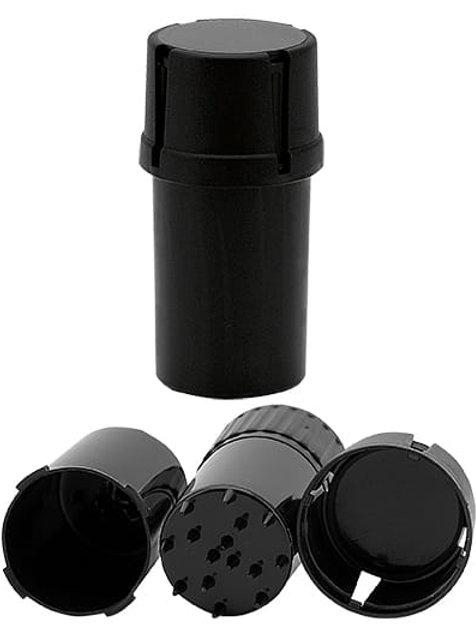 Młynek Plastikowy Remo Czarny – 3 częściowy 40 mm