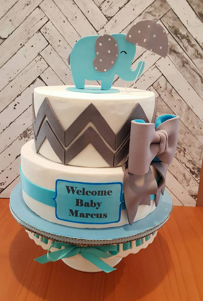 Welcome Baby Elephant, Chevron, Umbrella
