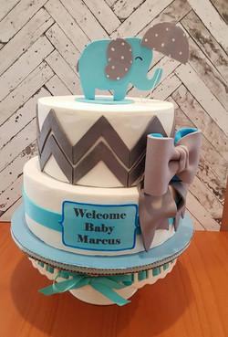 Welcome Baby Elephant, Chevron, Umbrella