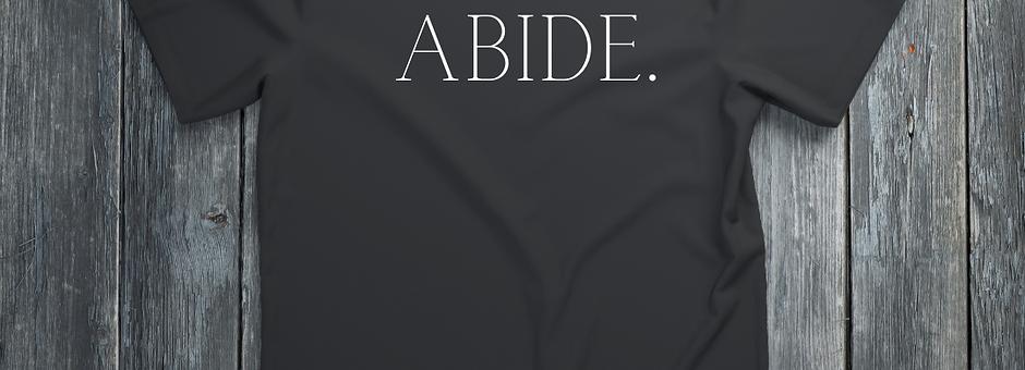 ABIDE (black tee)