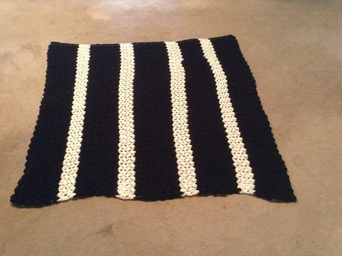 black and white child afghan