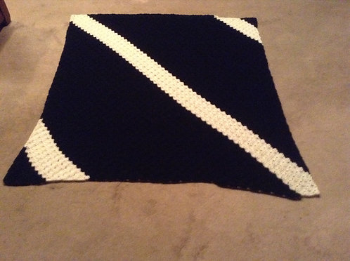 black/white afghan