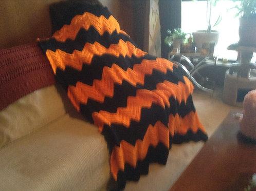 Black/orange ripple