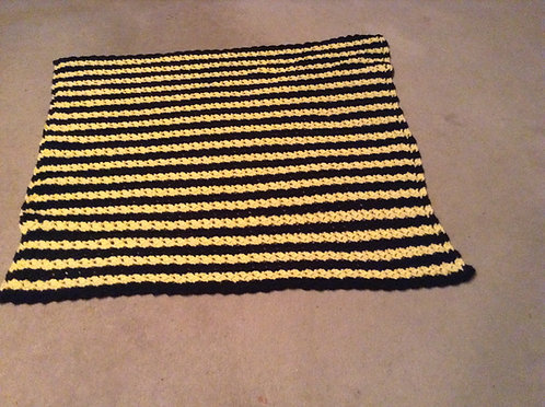 black and yellow child afghan