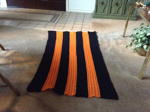 Orange/black Afghan