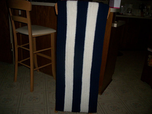 Navy and white wrap
