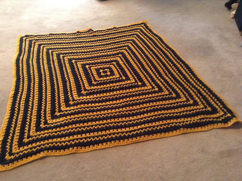 black/gold afghan