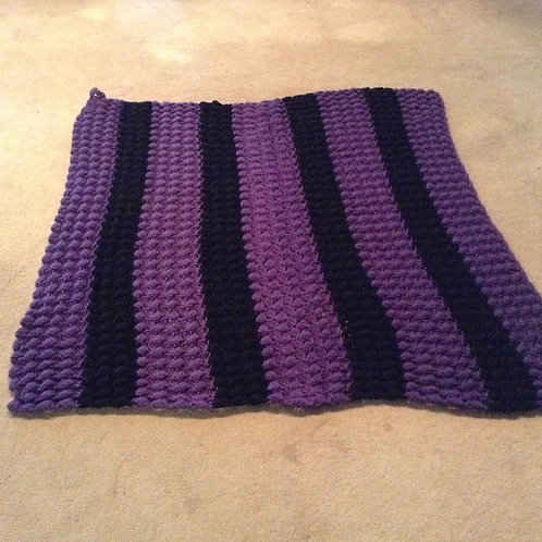 purple and black child afghan