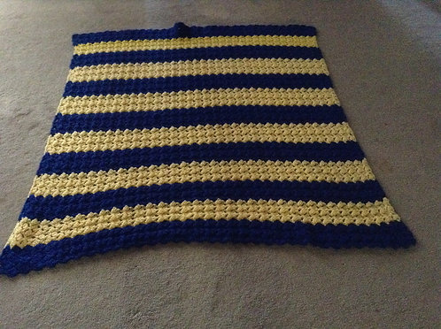 royal and yellow child afghan