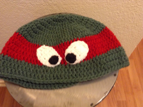 green and red Ninja Turtle Hat