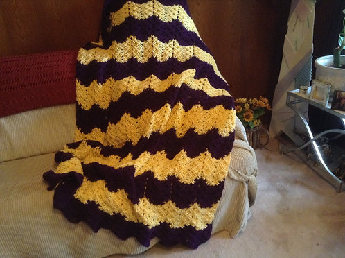 Purple and yellow ribbed ripple reverse