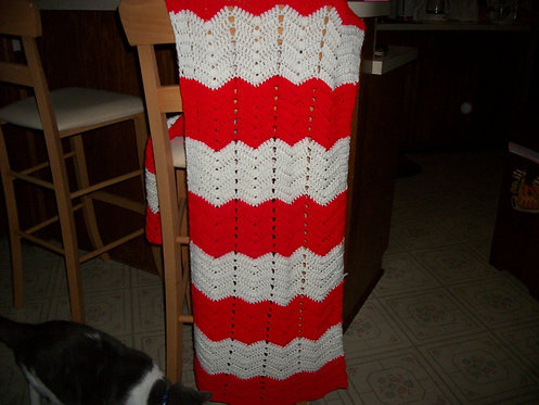 red and white ripple wrap