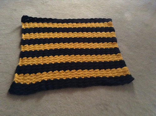 black and gold child afghan