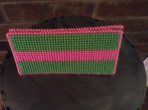 Green/pink money holder