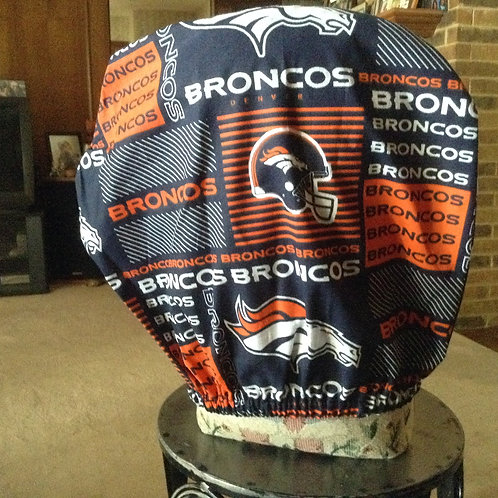 Broncos car headrest cover