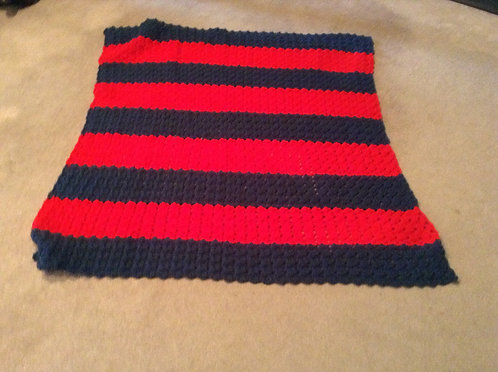 windsor blue and red child afghan