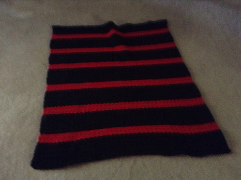 black and red child afghan