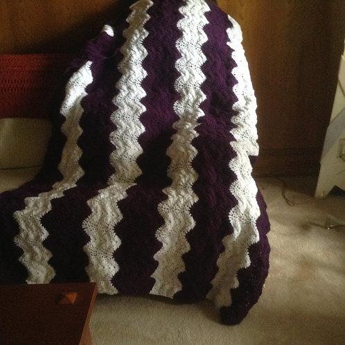 Purple and White Ripple