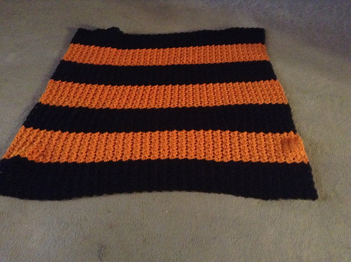 black and orange child afghan