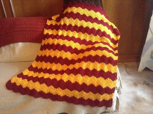 Burgundy and Gold Ripple