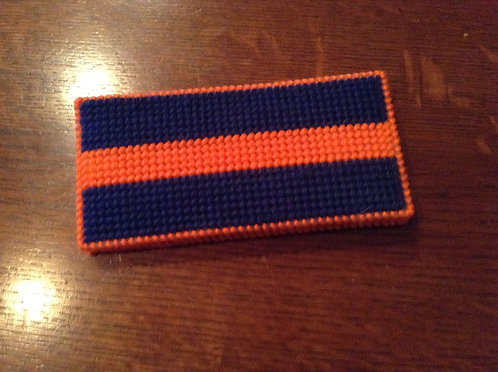 Navy/orange money holder
