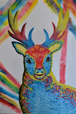 Three Colour Deer (Prime Colours Collect