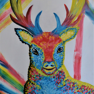 Three Colour Deer