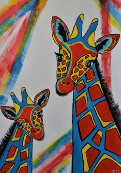 Three Colour Giraffes (Prime Colour)