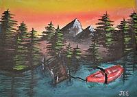 Lonely Red Canoe.jpg