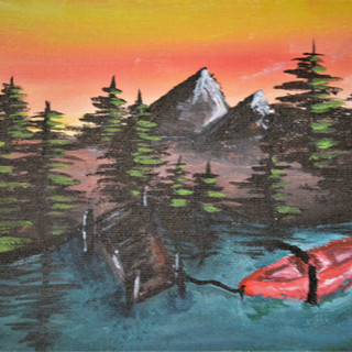 Lonely Red Canoe