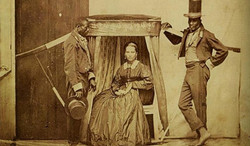 foto mulher e escravos