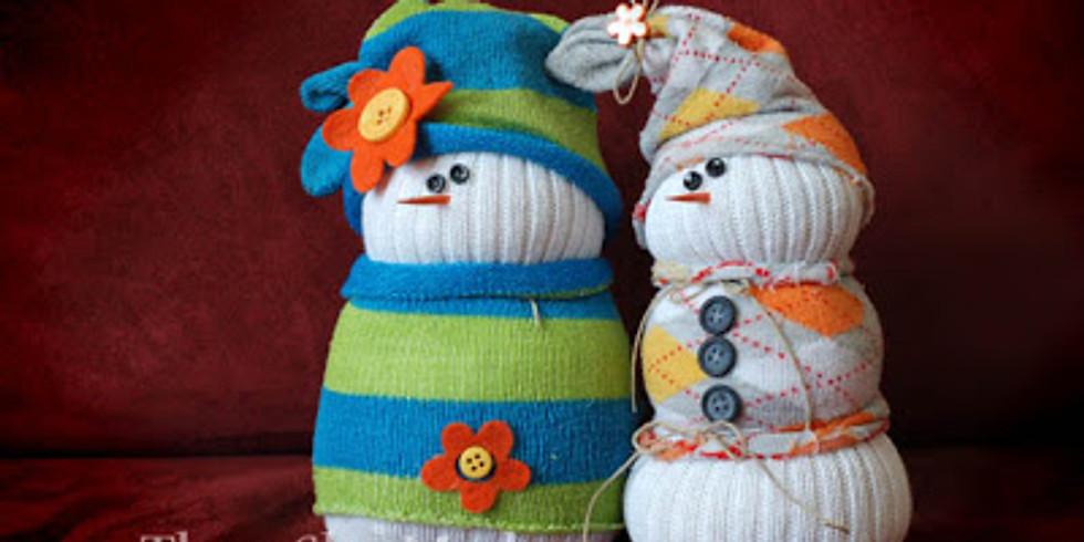 Ladies Night Out ~ Sock Snowmen