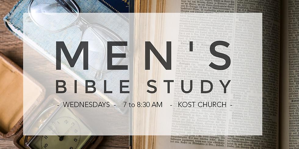Study of Romans Men's Bible Study Wednesdays 7-8:30 am Online