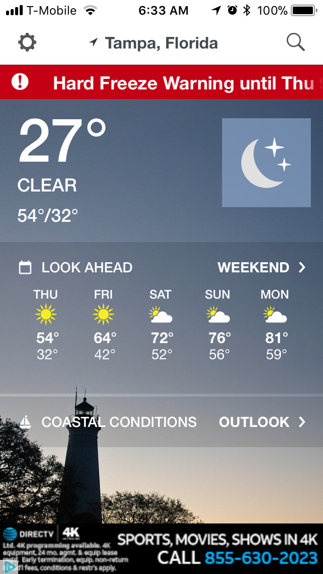 Freezing in Tampa!