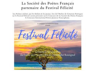 La Société des Poètes Français partenaire du Festival Félicité