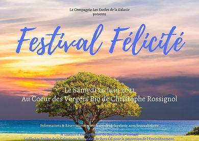 Affiche Festival Félicité 2021 - www.les