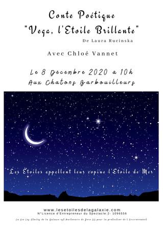 """Tournée du Conte Poétique """"Vega, l'Etoile Brillante"""" avec Chloé Vannet à Sotteville-lès-Rouen"""
