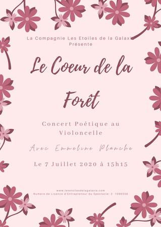 """""""Le Coeur de la Forêt"""": Concert Poétique au Violoncelle"""