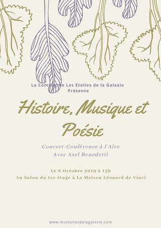 Histoire, Musique, et Poésie