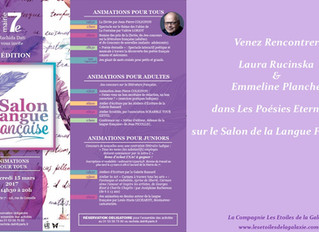 Les Poésies Eternelles à l'honneur sur le Salon de la Langue Française