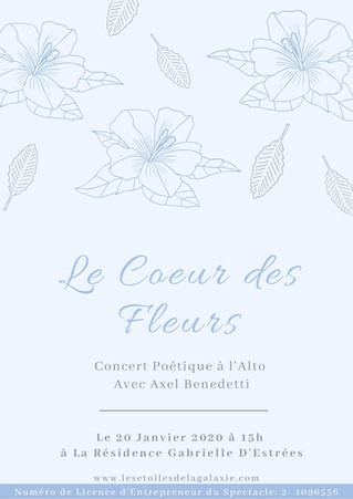 Le Coeur des Fleurs avec Axel Benedetti à l'Alto