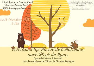 Fleur de Lune au pays des Etoiles - Librairie Le Pavé du Canal - 18 Décembre 2021 - www.le