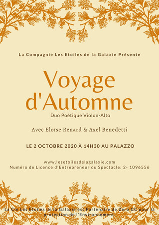 Voyage D'Automne avec Eloïse Renard & Axel Benedetti