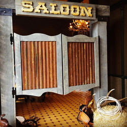 swinging saloon door entrance